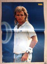 BRAVO POSTER Andre Agassi - 80er Jahre !!!
