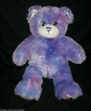 BUILD A BEAR PURPLE TEDDY WIZARDS OF WAVERLY PLACE STUFFED ANIMAL PLUSH TOY BABW