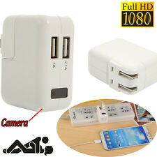 HD 1080P Hidden Real AC Power Adapter Camera Motion Detect Plug Video Nanny Cam