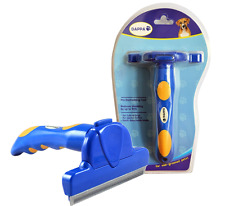 Pro Deshedding Tool for Dogs Cats Horses Self Clean with One Touch Fur Ejector