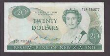 New Zealand banknote P. 173b-6577 20 Dollars sig Russell Pfx TGP, QE II, VF