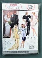 Vintage BURDA Couture sewing pattern 5082 M L XL women's dress wedding UNCUT