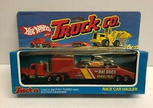 vintage 1982 Hot Wheels TRUCK CO. Race Car Hauler with PORSCHE  #5958 * RARE *