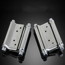 "US Stock 2pcs 4"" Double Action Spring Hinge Door Swing Saloon Kitchen Cafe Gate"
