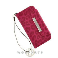 Apple iPhone 5C/i5CLite Wallet Pouch Leopard Hot Pink Case Cover Shell Protector