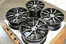 "15"" 4x100 4x114.3 Black Wheels Honda Civic Accord Fit Accent Elantra Optima Rims"
