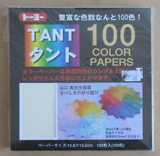 Tant Japanese Origami Paper 6 X 6 Squares Crafts 100 Color Sheets 007200 600Toyo