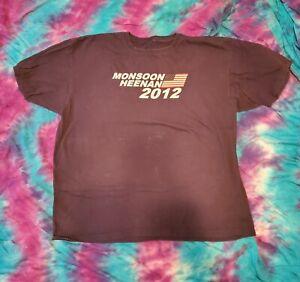 Monsoon Heenan 2012 2XL Blue Campaign Style T-Shirt WWF Bobby The Brain Gorilla