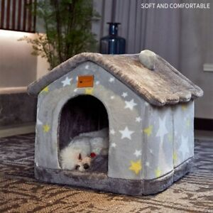 Dog Bed House Winter Warm Small Dog Teddy Cat or Dog Igloo Cave Bed