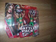 THE BELLAS WWE ACTION FIGURES MOC BELLA TWINS (NIKKI BELLA & BRIE BELLA W/TITLE