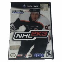 NHL 2K3 (Nintendo GameCube, 2002) Complete w/Manual Tested Works
