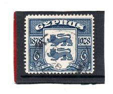 Cyprus GV 1928 6pi. blue sg 128 Used c.£40