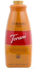TORANI CARAMEL PUREMADE SAUCE NO PRESERVTIVES ARTICIAL FLAVORING 64 OZ HUGE NEW