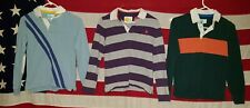 Mini Boden Rugby star bolt striped shirt Kids Boys 11-12 years Elbow Patch lot 3