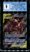 CGC 9 Gem Mint Umbreon Darkrai Gx Tag Team SM241 Promo Pokemon Card (PSA 10 BGS)