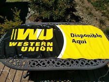New Western Union Double Sided English Spanish Vinyl Outdoor Banner Sign Display