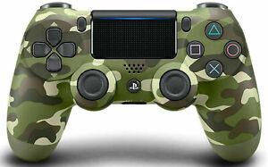 Sony DualShock 4 PS4 GREEN CAMO WIRELESS CONTROLLER CUH-ZCT2E TESTED