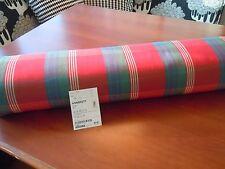 """IKEA ANNBRITT 58""""W Fabric Red Green Tartan Plaid Medium Weight Cotton"""