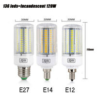 E27 E14 E12 LED Corn Bulb 7W9W12W15W25W 5730SMD Warm White Lamp Light  220V110V