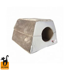 Rogz Cat Bed Igloo Snuggle Bed - 4 Colours Snuggle Cat Bed or Small Dog Bed Xmas