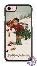 Vintage Christmas Season Card Phone Case Cover For iPhone Samsung Google LG