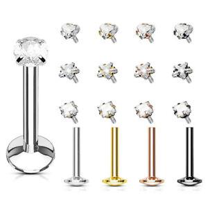 Labret Piercing Tragus Studs Helix Jewelry Crystal Stud Monroe Madonna