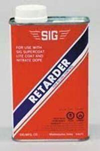 SIG DOPE RETARDER FOR RC PLANE FINISHING    16 OUNCES
