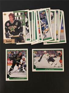 1993/94 Upper Deck Dallas Stars Team Set 18 Cards
