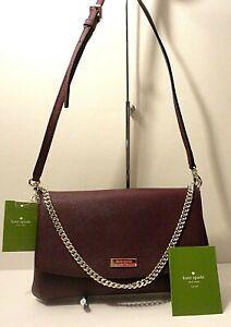 New Kate Spade Laurel Way 100% Leather Weekend Crossbody Shoulder Purse Bag $229