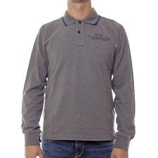 Polo uomo NORTH SAILS maglia STP 1446 cotone Grigio S manica lunga tshirt