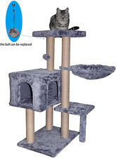 Cat Tree Pet Condo Scratching Post Tower Furniture Kitty House Bed Ball Activity