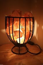 STUNNING! HIMALAYAN SALT FIRE BASKET ELECTRIC CRYSTAL HEALING NEW AGE NATURAL