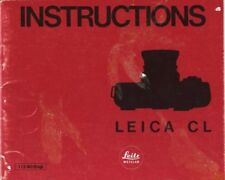 Leica Cl Instruction Manual 1973