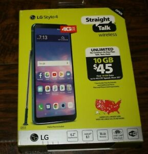 "New Straight Talk LG Stylo 4 4G LTE 6.2"" Screen 16GB PREPAID Smart Phone Boost"
