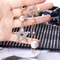 Fashion Luxury Drop Dangle Earrings Crystal Geometric Girl Women Jewelry Party