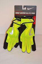 New $60 Nike Vapor Elite Pro Adult Batting Glove Volt/Black Small/S Hyperfuse