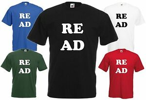 Read T-Shirt Reading Book Tee Library Cool Xmas Top Education Birthday Fun Gift