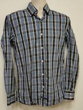 ENGLISH LAUNDRY Light Blue & Brown Check Dress Shirt - 15 34/35