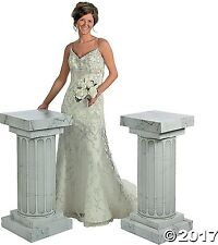 3 feet Marble-Look Fluted 2 Set Columns Wedding Party Decoration Celebration New