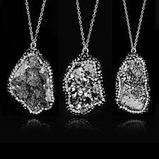 Irregular Quartz Crystal Origin Natural Stone Pendant Necklace Creative Jewelry
