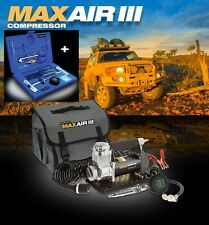 BUSHRANGER MAX AIR III/3 4WD/4X4 12 VOLT PORTABLE AIR COMPRESSOR + PLUGGA 3 KIT