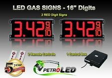 """16"""" LED GAS STATION Electronic Fuel PRICE SIGN DIGITAL CHANGER Complete Package"""