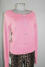 Apriori Pull 38 rose grand Boutons strass Viscose sweat neuf avec étiquette