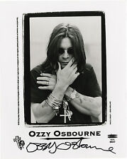 OZZY OSBOURNE - SIGNED 10X8 PHOTO, GREAT STUDIO IMAGE, LOOKS GREAT FRAMED