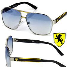New Khan Eyewear Mens Designer Fashion Sunglasses Shades Retro Silver Blue Pilot