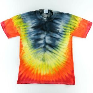 Victory Motorcycles USA Men's Fire Tie Dye T Shirt Size Med New American Cycle