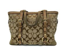 Coach Signature Gallery Tote Handbag Purse Brown Gold Accents -10384