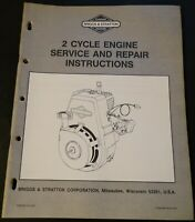 1986 BRIGGS & STRATTON 2 CYCLE ENGINE SERVICE MANUAL MS-7879 (923)