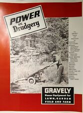 Gravely 1955 L LI LS Two-Wheel Lawn Garden Tractor Color Sales Manual 24pg 5 h.p