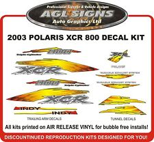 2003 POLARIS INDY XCR 800 Reproduction Hood Decal Kit   graphics stickers
